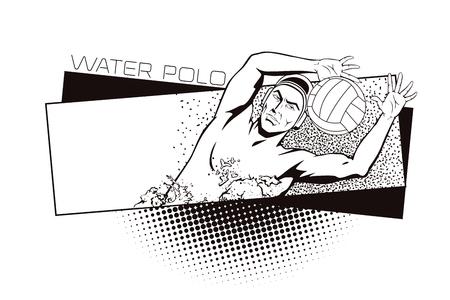 water polo: clases de verano de deportes. Waterpolo. Vectores