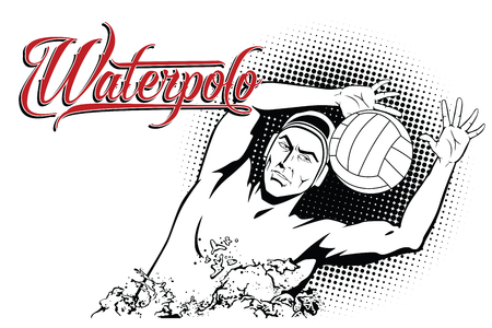 water polo: Summer kinds of sports. Water polo. Illustration
