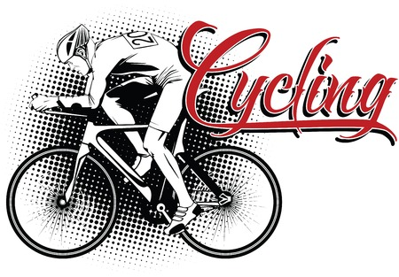 kinds: Summer kinds of sports. Cycling. Illustration