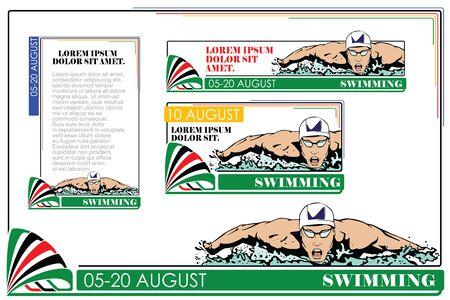 swim race: Summer kinds of sports. Swimming.