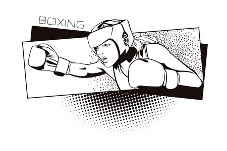 kinds: Summer kinds of sports. Boxing. Stock Photo
