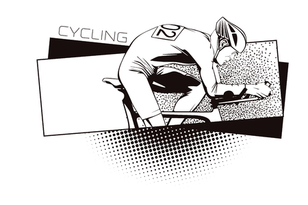 kinds: Summer kinds of sports. Cycling. Stock Photo