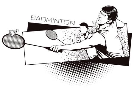 kinds: Summer kinds of sports. Badminton. Illustration