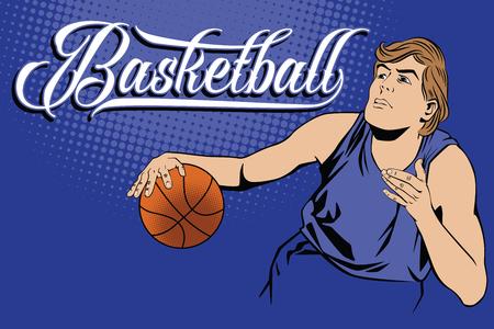 kinds: Summer kinds of sports. Basketball. Illustration
