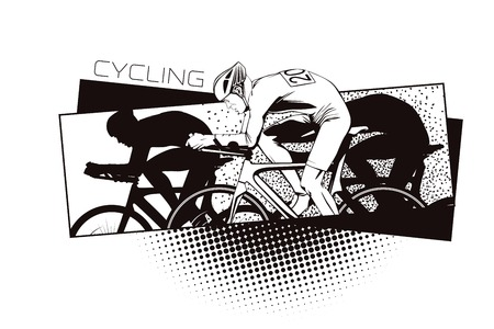 Summer kinds of sports. Cycling.