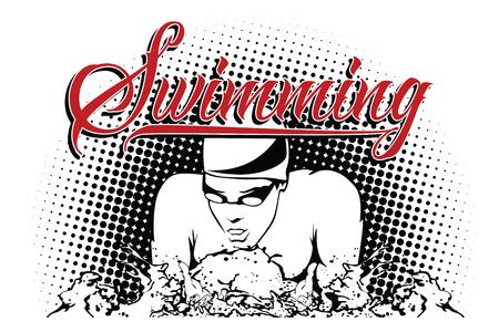 スポーツの夏の種類。スイミング。  イラスト・ベクター素材
