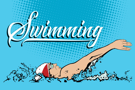 backstroke: Summer kinds of sports. Swimming.