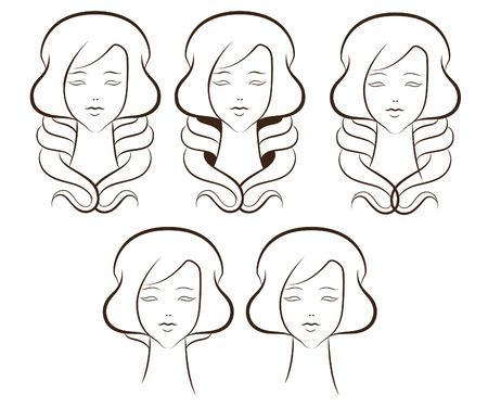 toenail: Template cosmetic company logo or a beauty salon.