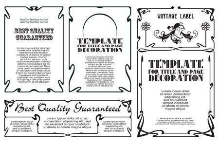 lineas decorativas: Resumen de vectores etiqueta decorativa de líneas y de flores atadas