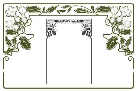 vintage art: Vector abstract framework from the bound flowers and plants for decoration and design Illustration