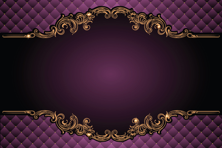 baroque border: Vector luxury frame with border in rococo style for advertisements, wedding, invitations or greeting cards