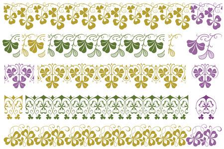 ラベル、バナー、ステッカーやその他のデザインのためのベクトル植物ビネット。  イラスト・ベクター素材