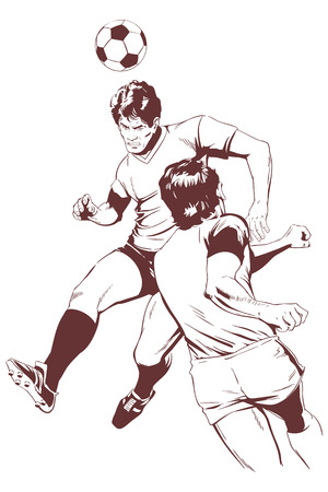 Stock illustration. Soccer players. Illustration