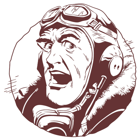 Stock illustration Retro pilot.