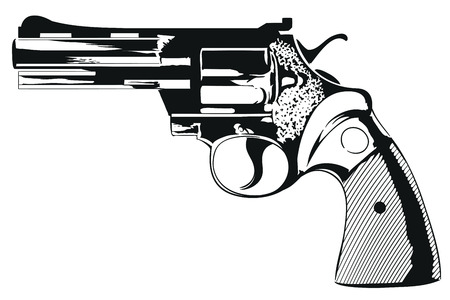 Stock illustration. Colt of 38th caliber.