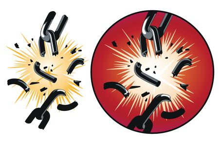 Vector broken chain. Imagens - 101186851