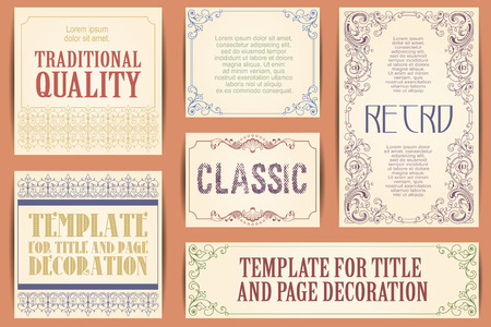 Vector set for creating advertisements, flyer, web, wedding  and other invitations or greeting cards. Happy holidays. 向量圖像