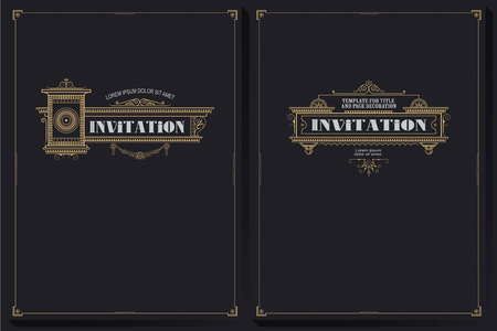 Vector template. Advertisements, flyer, web, wedding and other invitations or greeting cards.