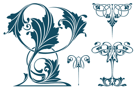 Vector plant vignette for labels, banner, sticker, tattoo and other design. 스톡 콘텐츠 - 116285512