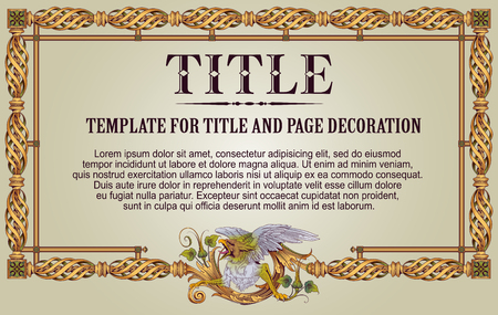 Template advertisements, flyer, web, and other invitations, diploma or greeting cards. Monster frame.