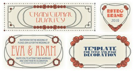 Template advertisements, flyer, web, wedding  and other invitations or greeting cards. Happy holiday. Иллюстрация