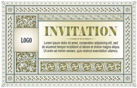 Stock illustration. Vector template flyer, invitations or greeting cards.