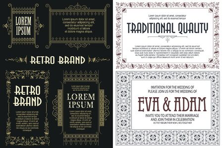 Template advertisements, flyer, web, wedding  and other invitations or greeting cards. Happy holiday. 向量圖像