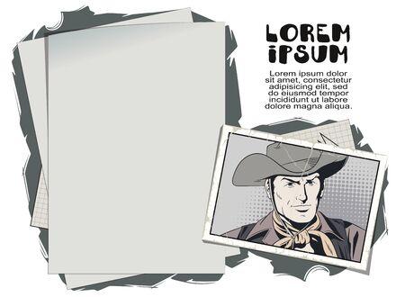 Vector. Stock illustration. Wild West hero.