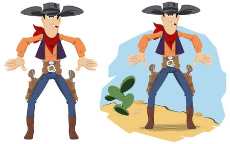 Funny people. Wild west world. Cowboy duel.