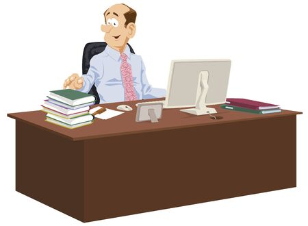 Funny people. Workplace businessman. Working clerk.