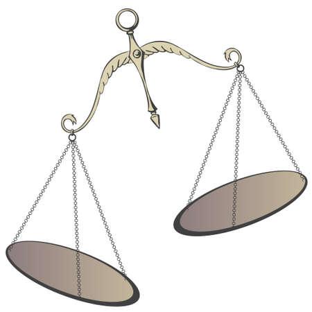 Stock illustration. Decorative Scales of Justice. Ilustração Vetorial