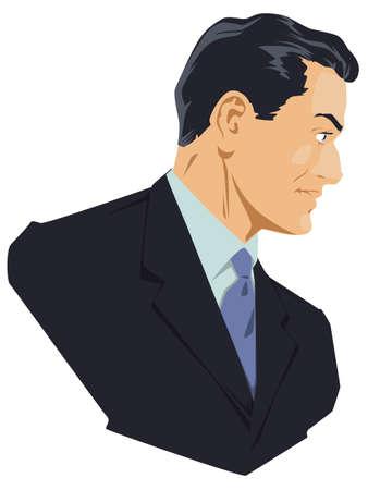 Portrait successful businessman. Funny people.