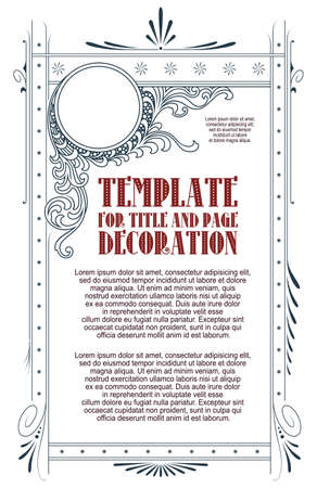 Template for design of diploma, certificate, advertisements, invitations or greeting cards. Ilustración de vector