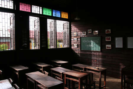 salle classe: salle de classe en bois �ditoriale