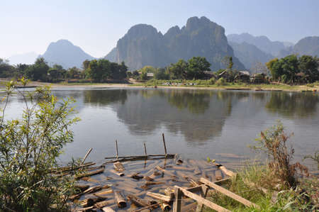 nam: Nam Song River, Vang Vieng, Laos