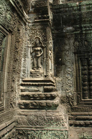 to reap: Temple Engravings, Siem Reap, Cambodia