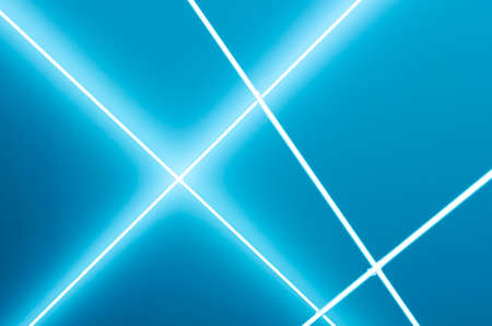 tron: White glowing lines on light blue background
