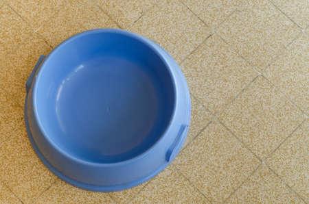 dog bowl: Blue dog bowl