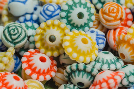 multi colour: Multi colour plastic flowers for beads craft