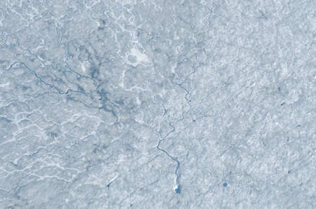 frozen lake: Patterns on the surface of a glacier in Greenland Stock Photo