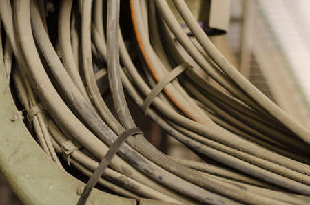 intricacy: Old and dusty cables