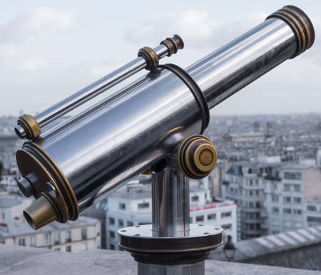 monocular: Coin operated monocular with Paris background