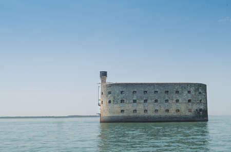 Oleron , France August 12, 2015: Forth Boyard near the coast of ile doleron in the middle of the ocean Editorial