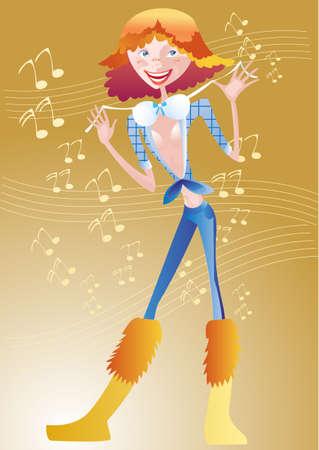 flexible girl: This is a mischievous girl dancing