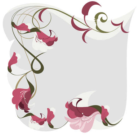 frame of the orchid flowers framed by a place for your text Vector