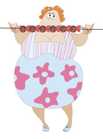 obeso: A imagem c