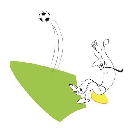 Football fan in the stadium enjoys scored a goal Stock Vector - 14862667