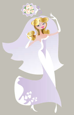 Happy bride throws her friends wedding bouquet