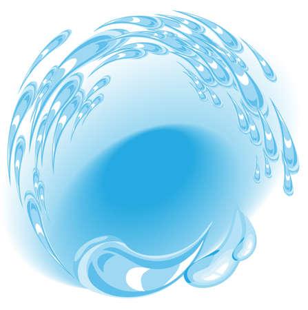 source d eau: Un fort courant d'eau dans le ruisseau Illustration