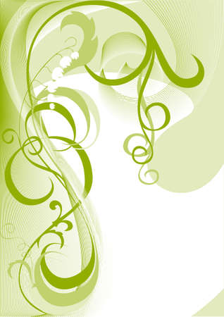 lily flower: Dit is een decoratieve element met een plantaardige patroon